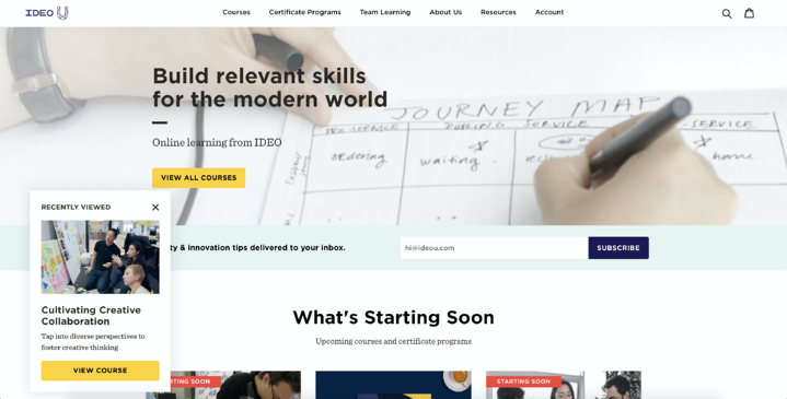 Design Thinking Online Courses – IDEO U 2020-10-30 15-00-09