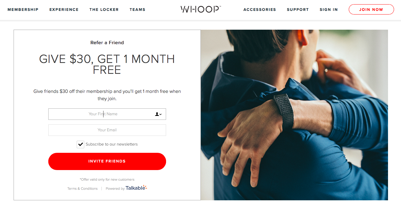whoop-fitness-referral-program-talkable